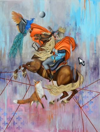 The Mandrill King | Oil on canvas | 90 cm x 116 cm